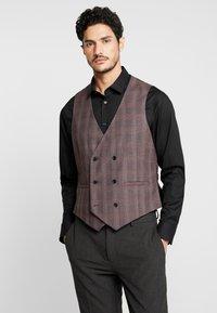Burton Menswear London - POW CHECK - Gilet elegante - red - 0