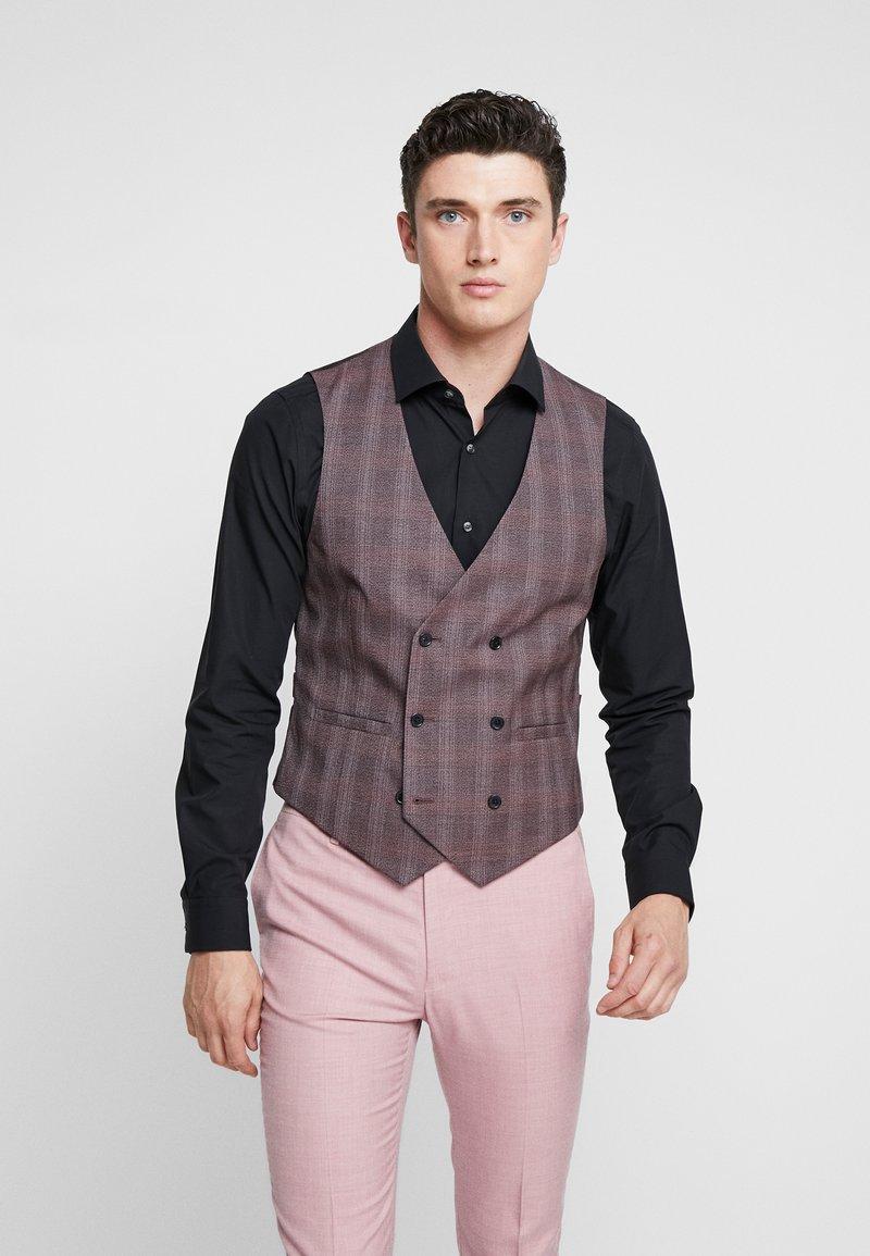 Burton Menswear London - POW CHECK - Suit waistcoat - red