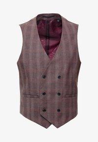 Burton Menswear London - POW CHECK - Gilet elegante - red - 4