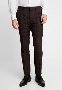 Burton Menswear London - TARTAN  - Pantaloni eleganti - red - 0
