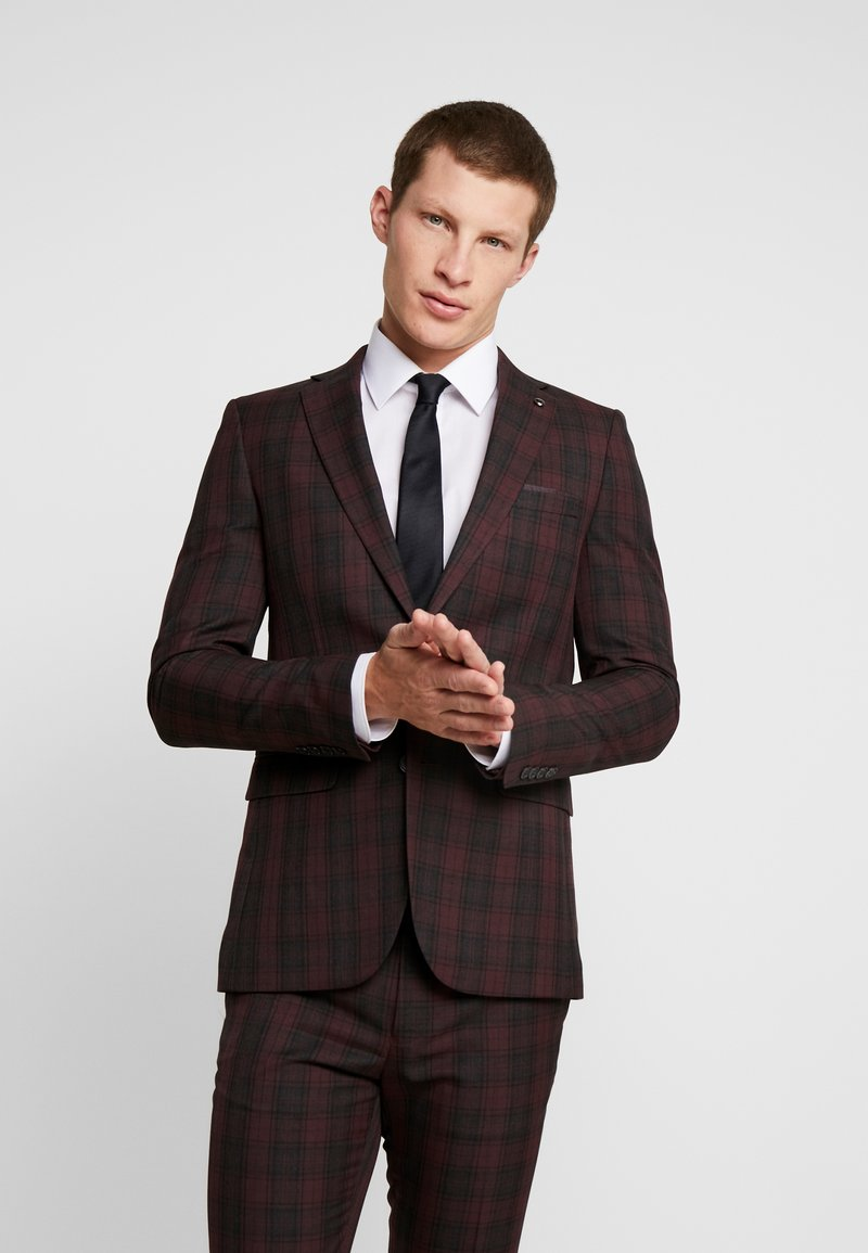 Burton Menswear London - TARTAN - Suit jacket - red