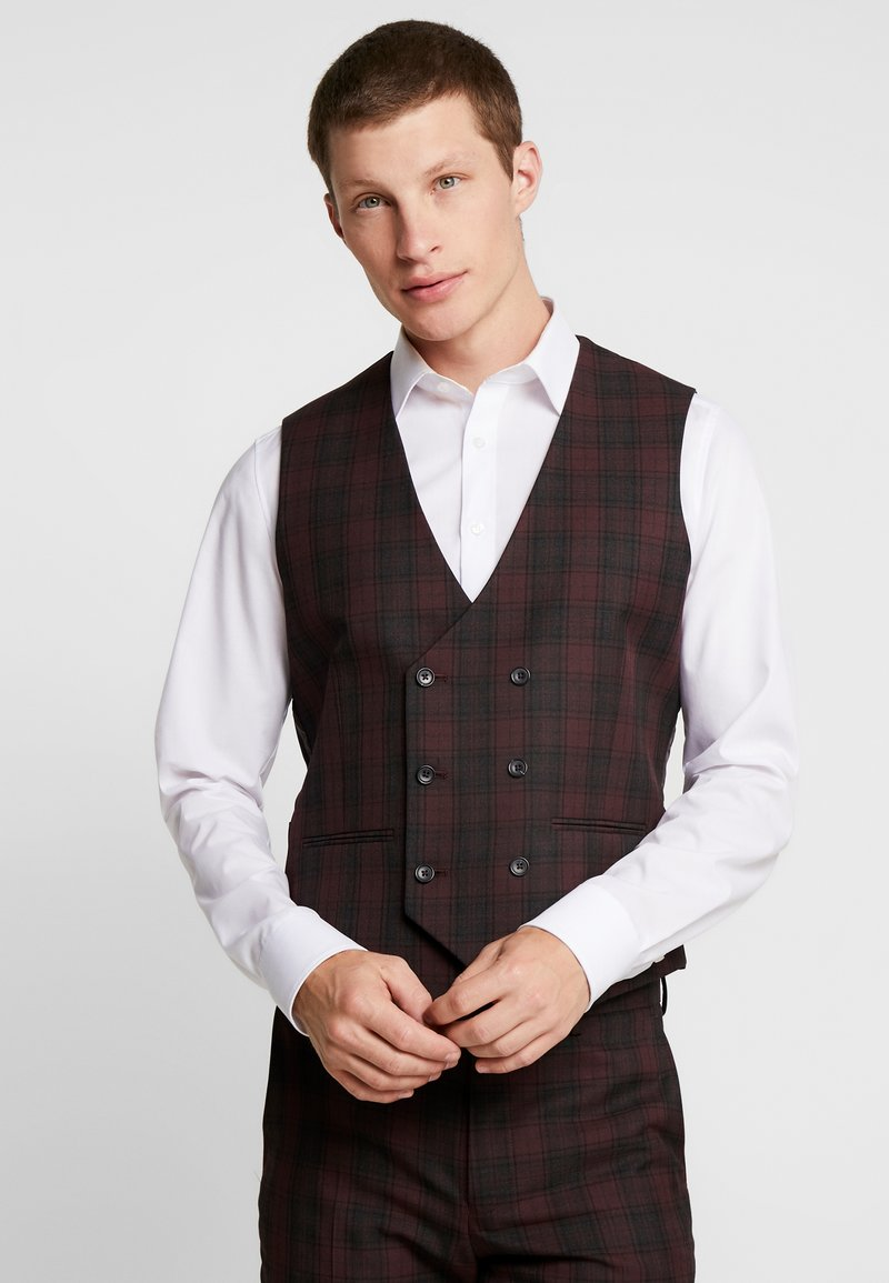 Burton Menswear London - TARTAN - Suit waistcoat - red