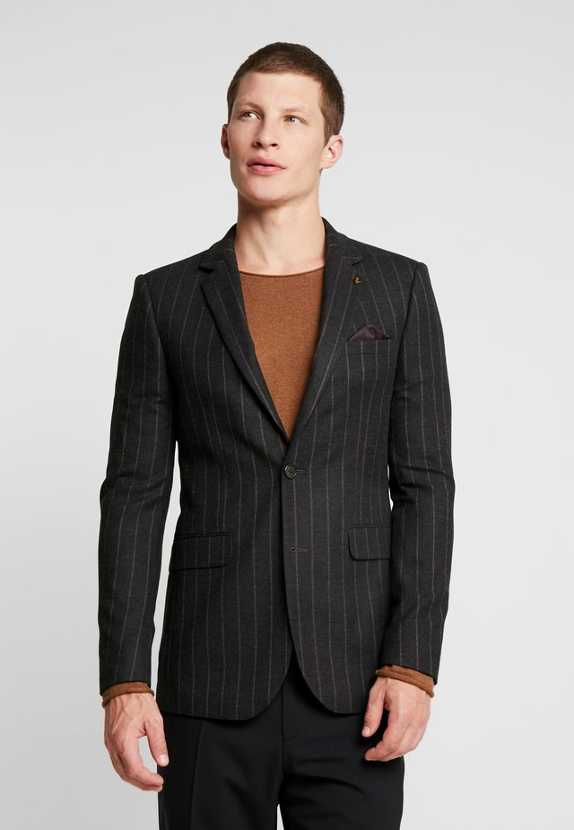 COLLEGE STRIPE SKINNY FIT  - Suit jacket - grey
