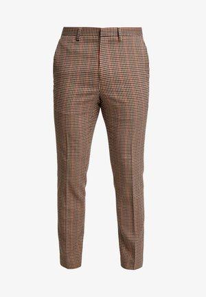 HOUSE CHECK TROUSERS - Spodnie garniturowe - brown