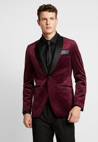 Burton Menswear London - CLARET SHAWL - Giacca - red - 0