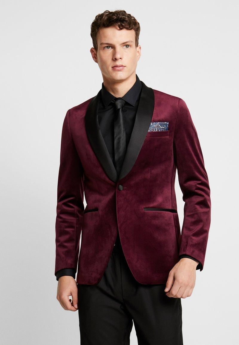 Burton Menswear London - CLARET SHAWL - Giacca - red