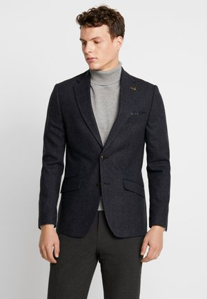 RUST CHECK - Blazer jacket - navy