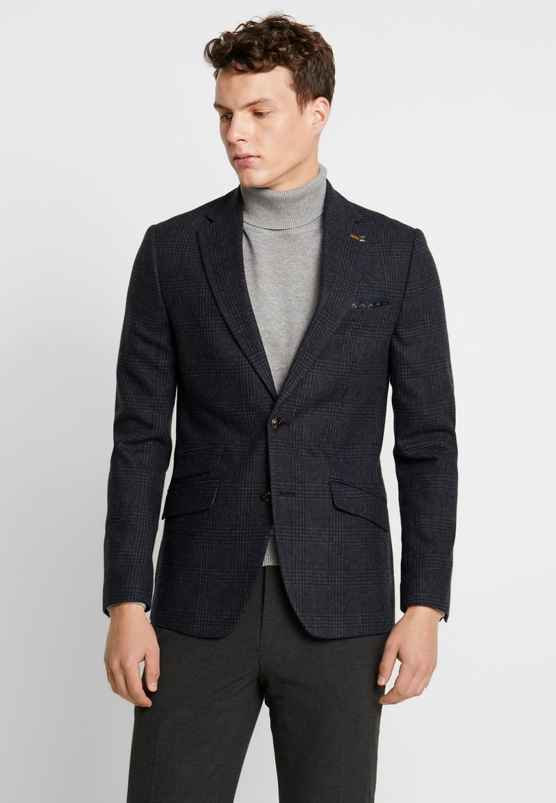 Burton Menswear London - RUST CHECK - Blazere - navy