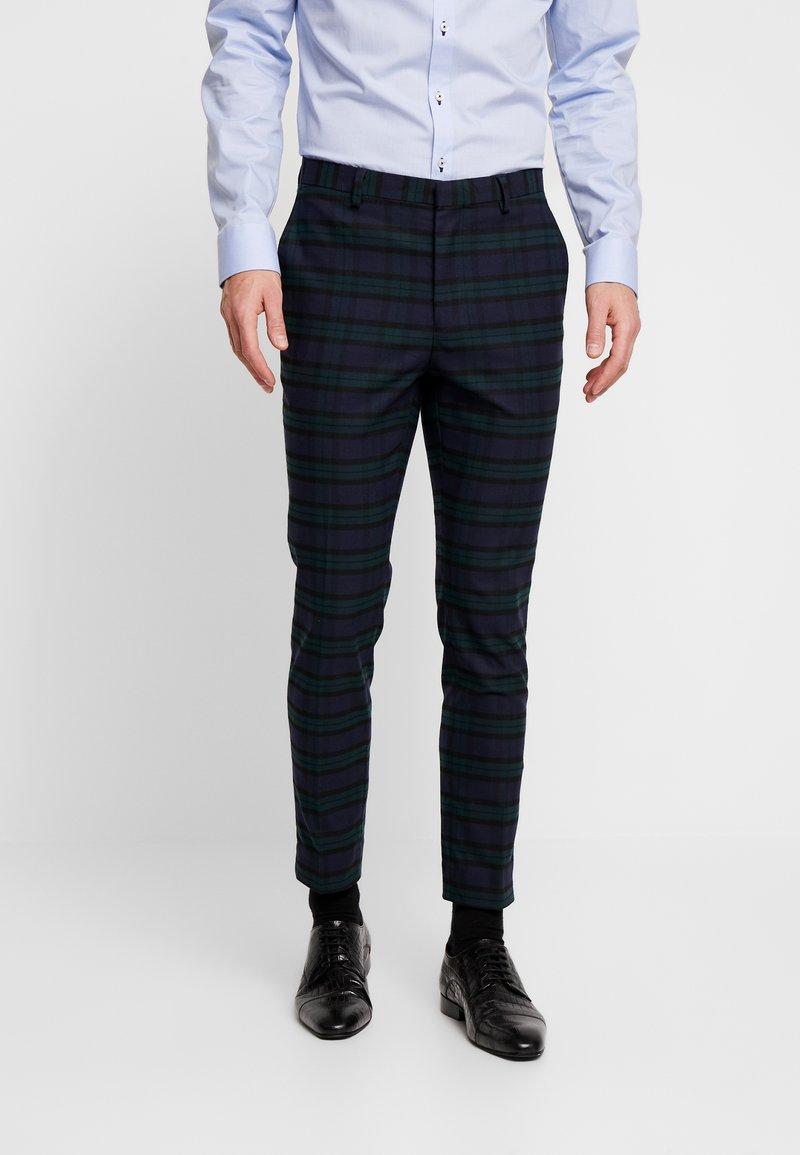 Burton Menswear London - WATCH CHECK - Spodnie garniturowe - black