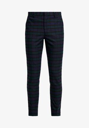 WATCH CHECK - Oblekové kalhoty - black