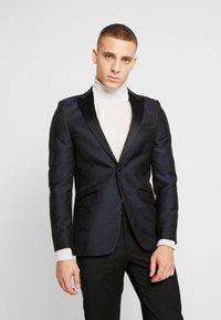 Burton Menswear London - FLORAL - Giacca - black - 0