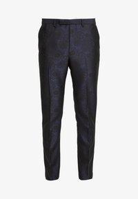 Burton Menswear London - FLORAL JACQUARD - Oblekové kalhoty - black - 4