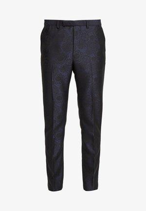FLORAL JACQUARD - Pantalon de costume - black