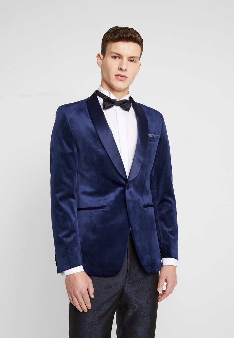 Burton Menswear London - TOP SHAWL LAPEL - Suit jacket - navy