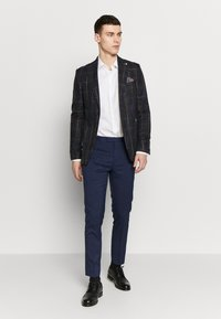 Burton Menswear London - MULTI CHECK - Pikkutakki - navy - 1