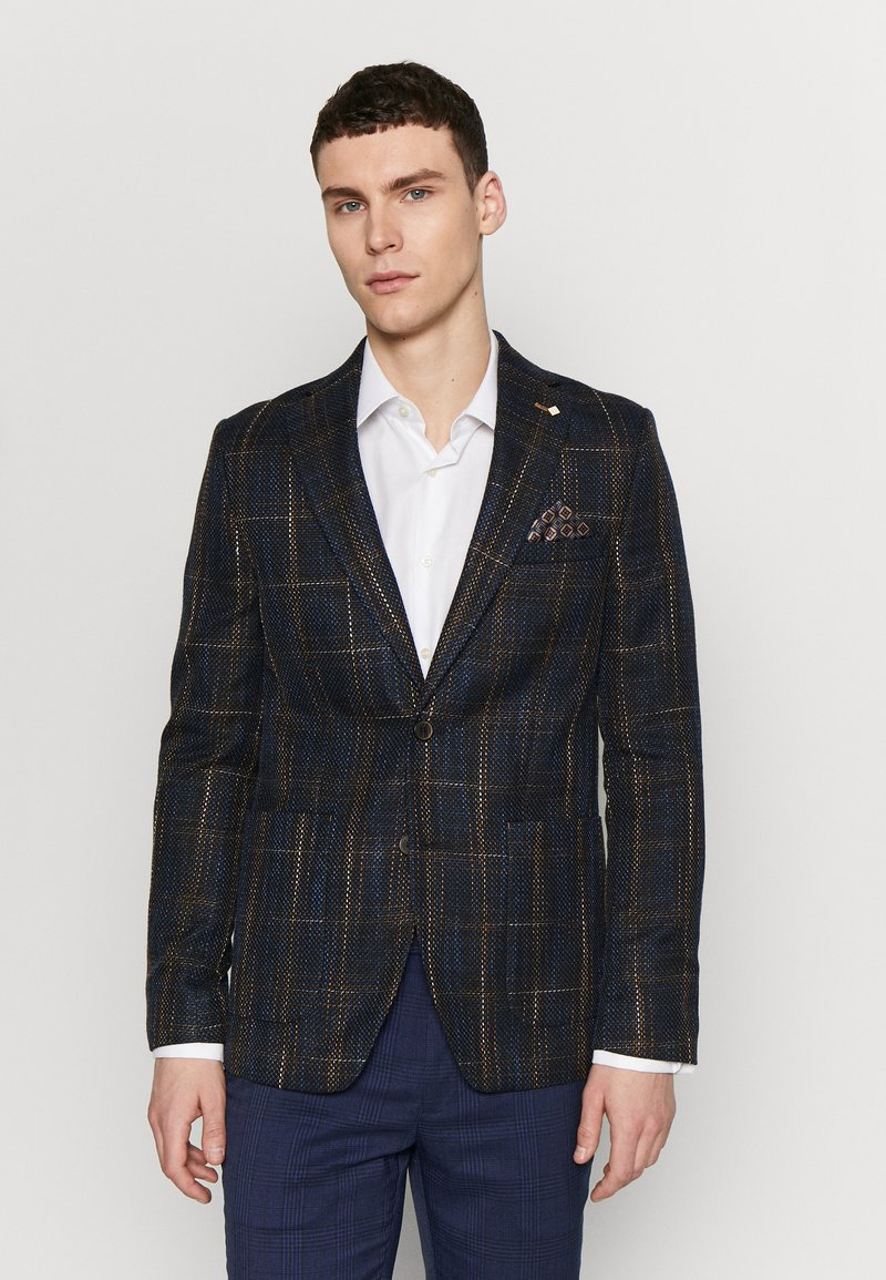 Burton Menswear London - MULTI CHECK - Pikkutakki - navy