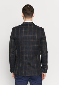 Burton Menswear London - MULTI CHECK - Pikkutakki - navy - 2