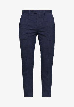 HIGHLIGHT CHECK - Spodnie materiałowe - navy