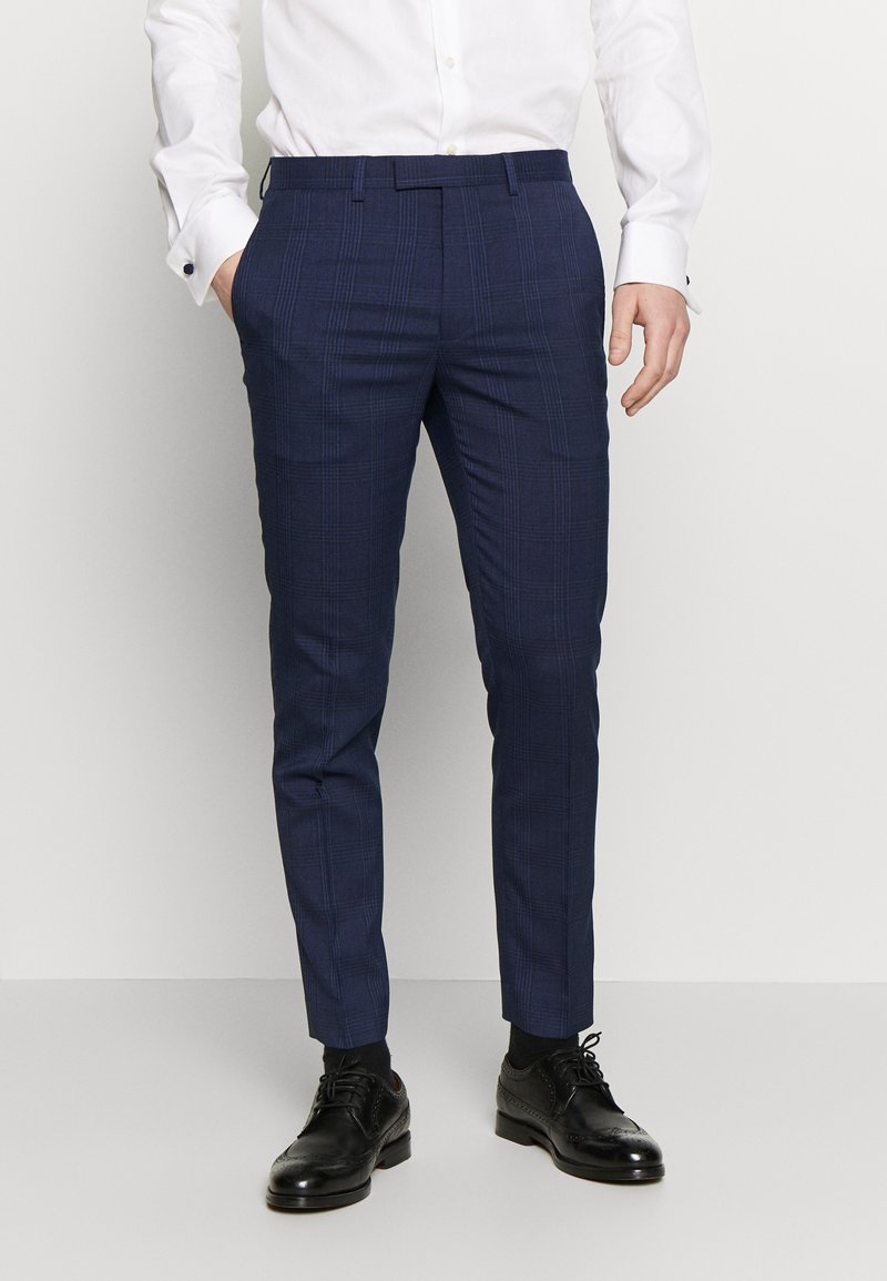 Burton Menswear London - HIGHLIGHT CHECK - Stoffhose - navy
