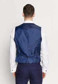 Burton Menswear London - HIGHLIGHT CHECK - Gilet elegante - navy - 2