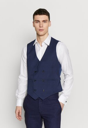 HIGHLIGHT CHECK - Gilet elegante - navy