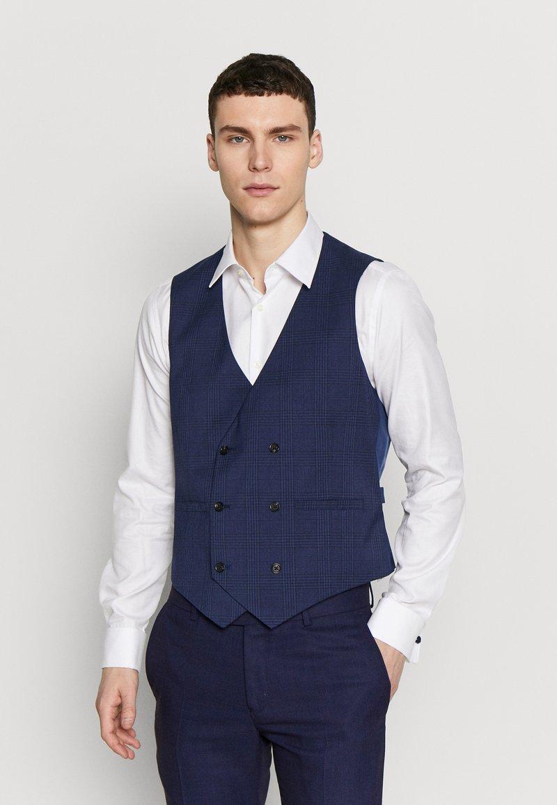 Burton Menswear London - HIGHLIGHT CHECK - Gilet elegante - navy