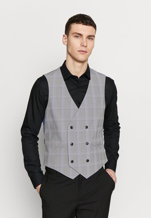GRAPHIC CHECK - Anzugweste - grey