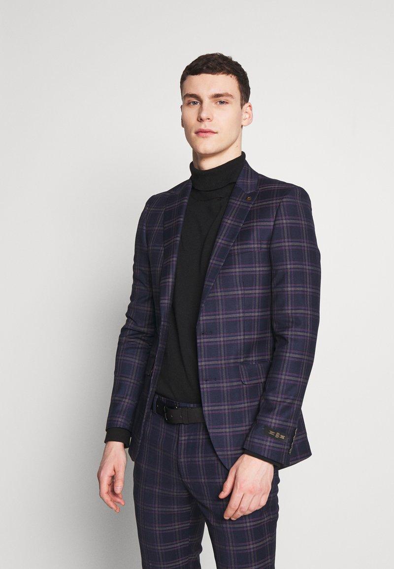 Burton Menswear London - TARTAN - Veste de costume - navy
