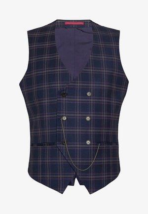 TARTAN - Suit waistcoat - navy
