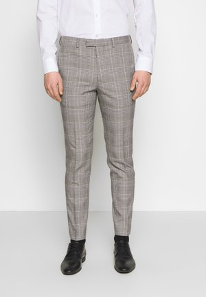 HIGHLIGHT CHECK - Suit trousers - grey