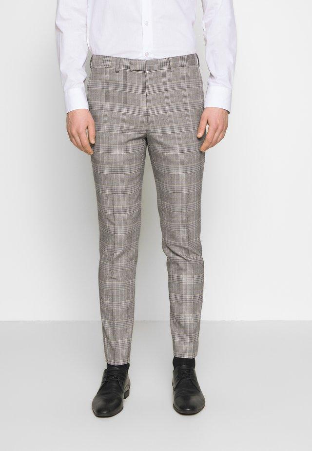 HIGHLIGHT CHECK - Spodnie garniturowe - grey