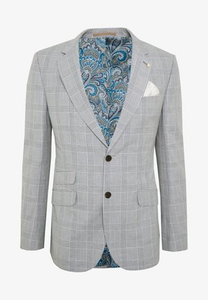 CHECK JACKET - Giacca elegante - grey