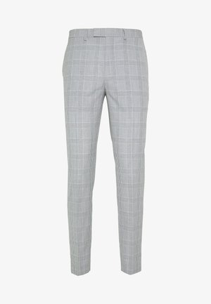CHECK TROUSERS - Pantaloni eleganti - grey