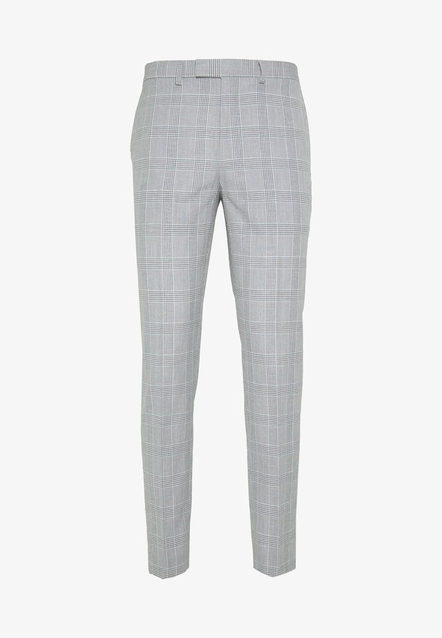 CHECK TROUSERS - Anzughose - grey