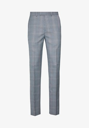 POW CHECK TROUSERS - Pantaloni eleganti - blue