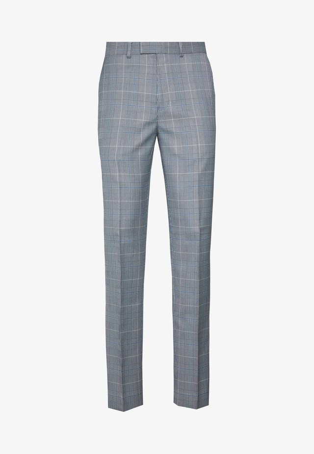 POW CHECK TROUSERS - Anzughose - blue