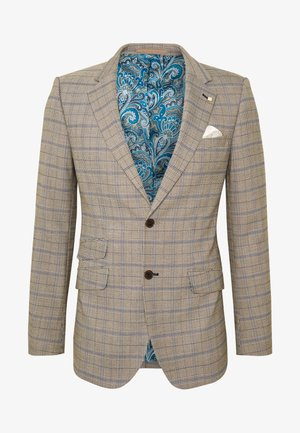 SAND NAVY CHECK JACKET - Anzugsakko - neutral