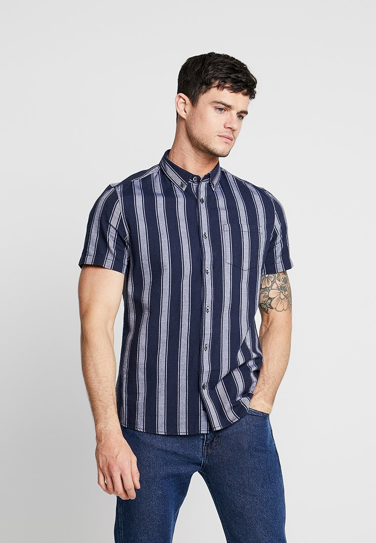 Burton Menswear London - BOLD STRIPE - Hemd - navy