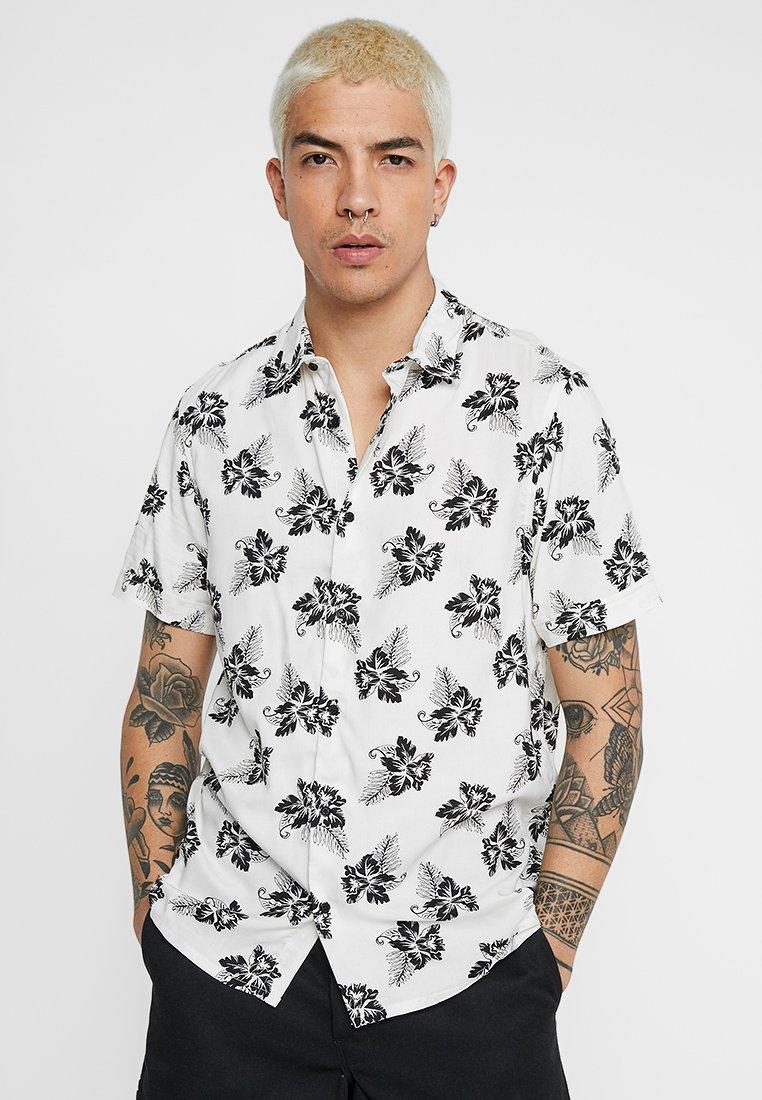 Burton Menswear London - FLORAL POPLIN - Shirt - off white