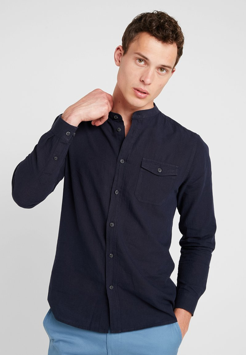 Burton Menswear London - GRANDAD - Hemd - navy