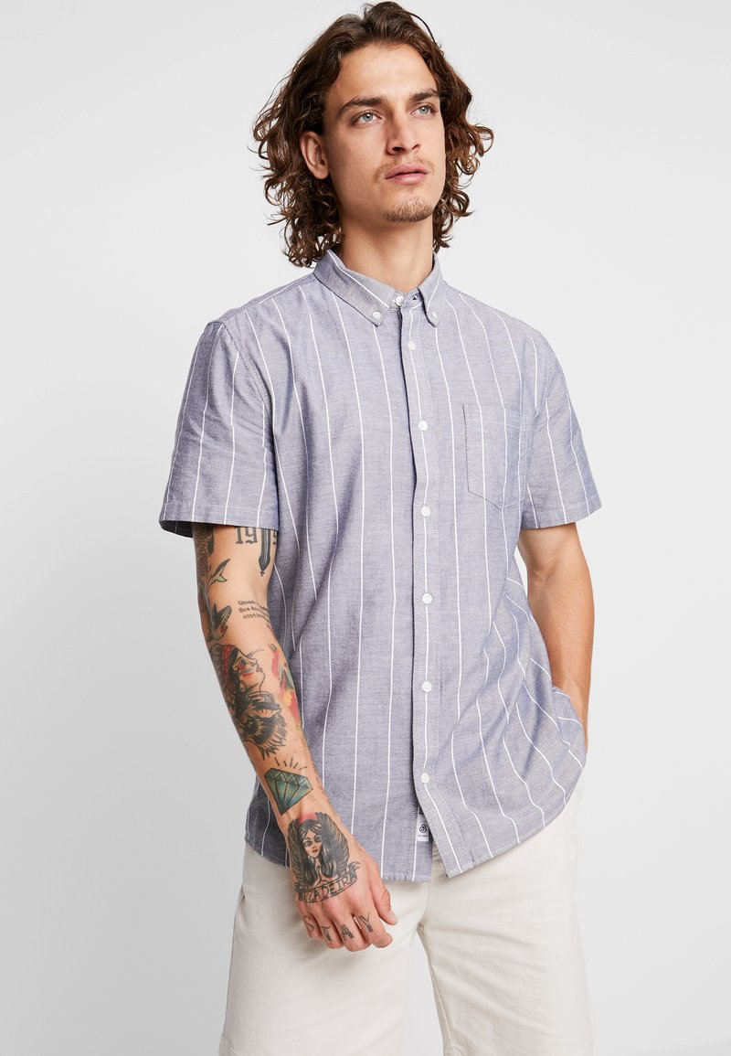 Burton Menswear London - WIDE STRIPE - Shirt - grey