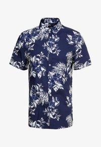 Burton Menswear London - LARGE FLORAL - Vapaa-ajan kauluspaita - navy - 3