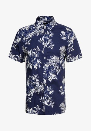LARGE FLORAL - Shirt - navy