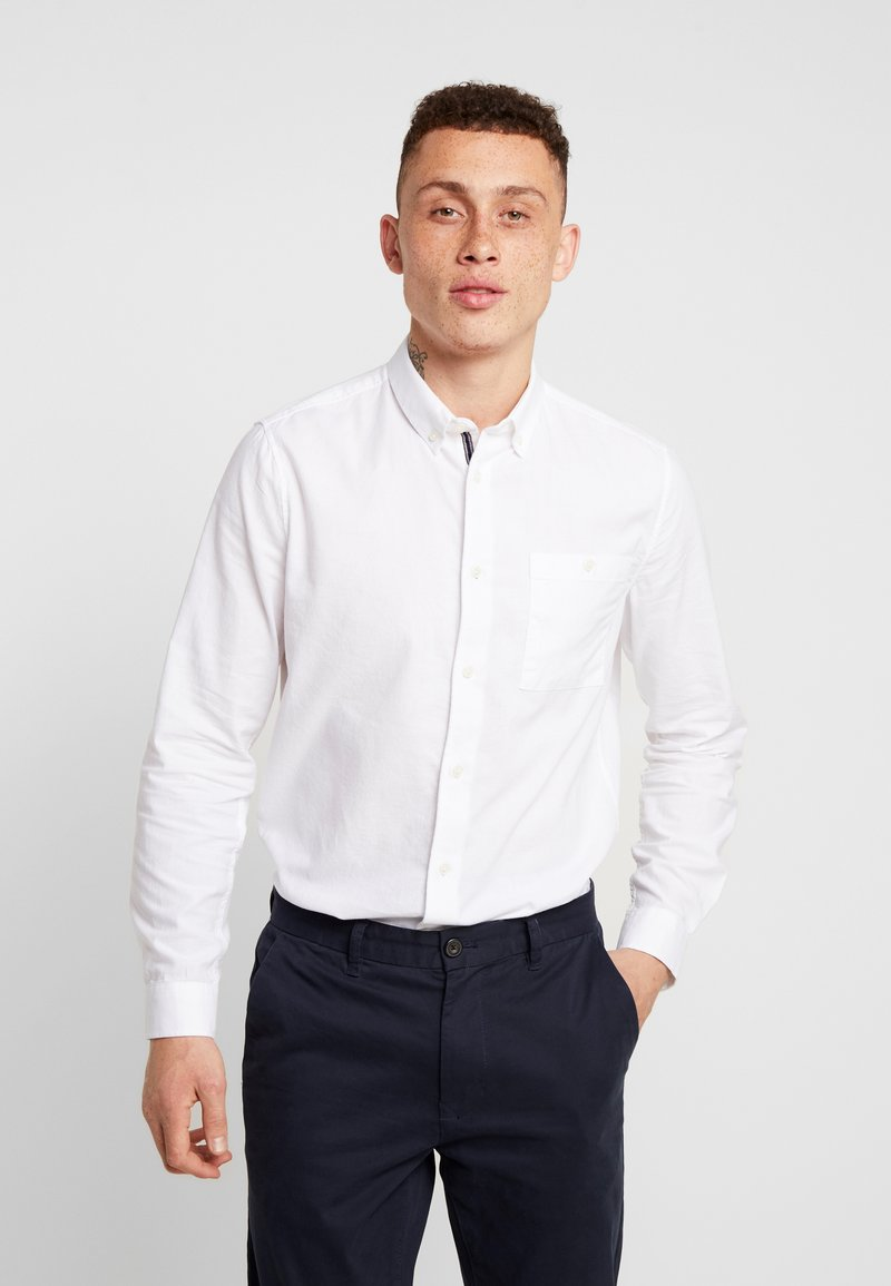 Burton Menswear London - LONG SLEEVE BOXY OXFORD - Shirt - white
