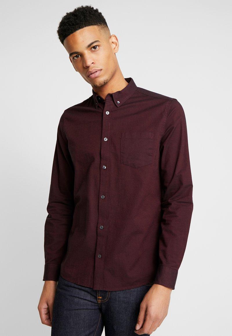 Burton Menswear London - OXFORD - Shirt - burgundy