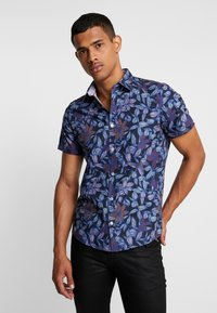 Burton Menswear London - FLORAL - Skjorta - black - 0