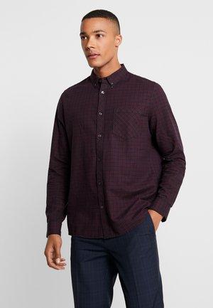 BERRY MINI CHECK - Skjorte - burgundy