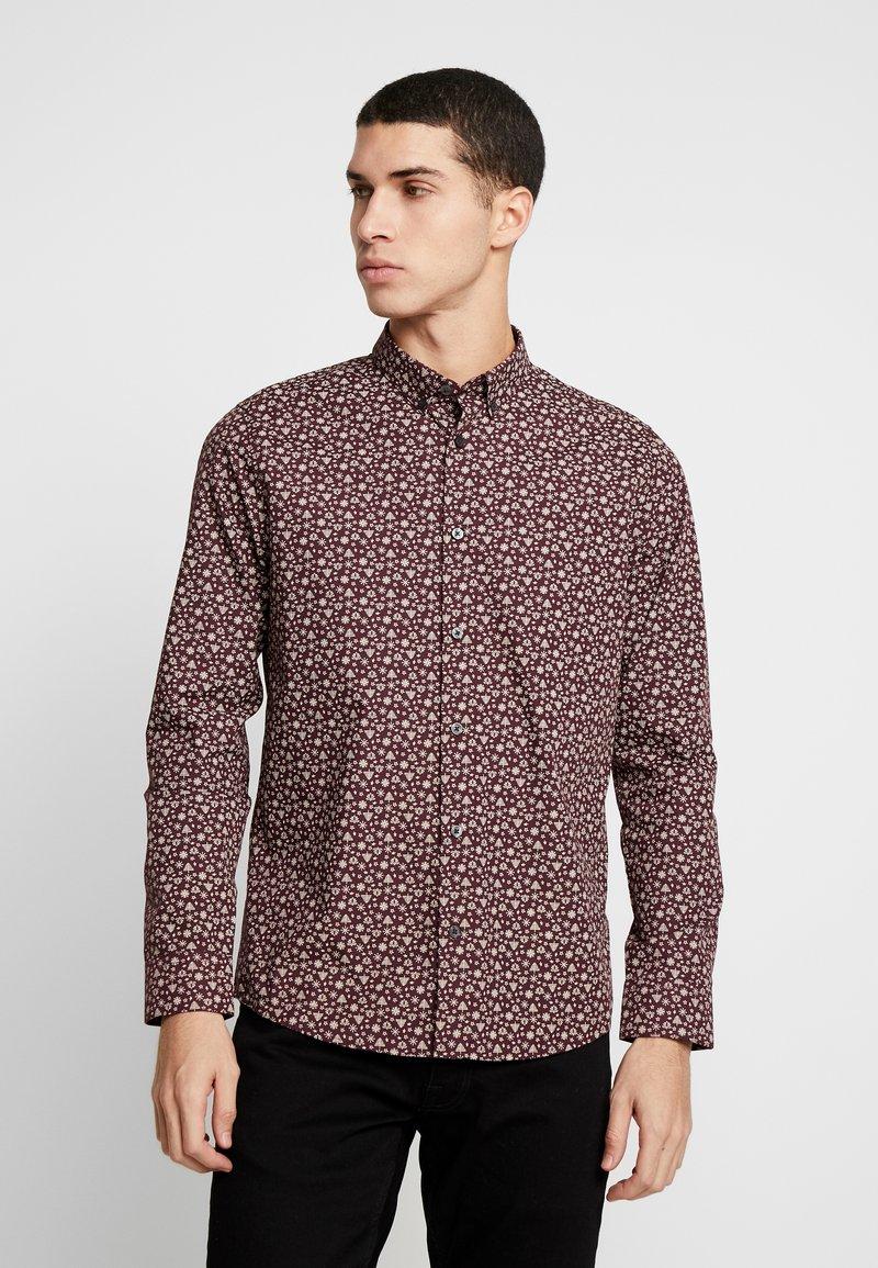 Burton Menswear London - XMAS TREE - Košile - burgundy