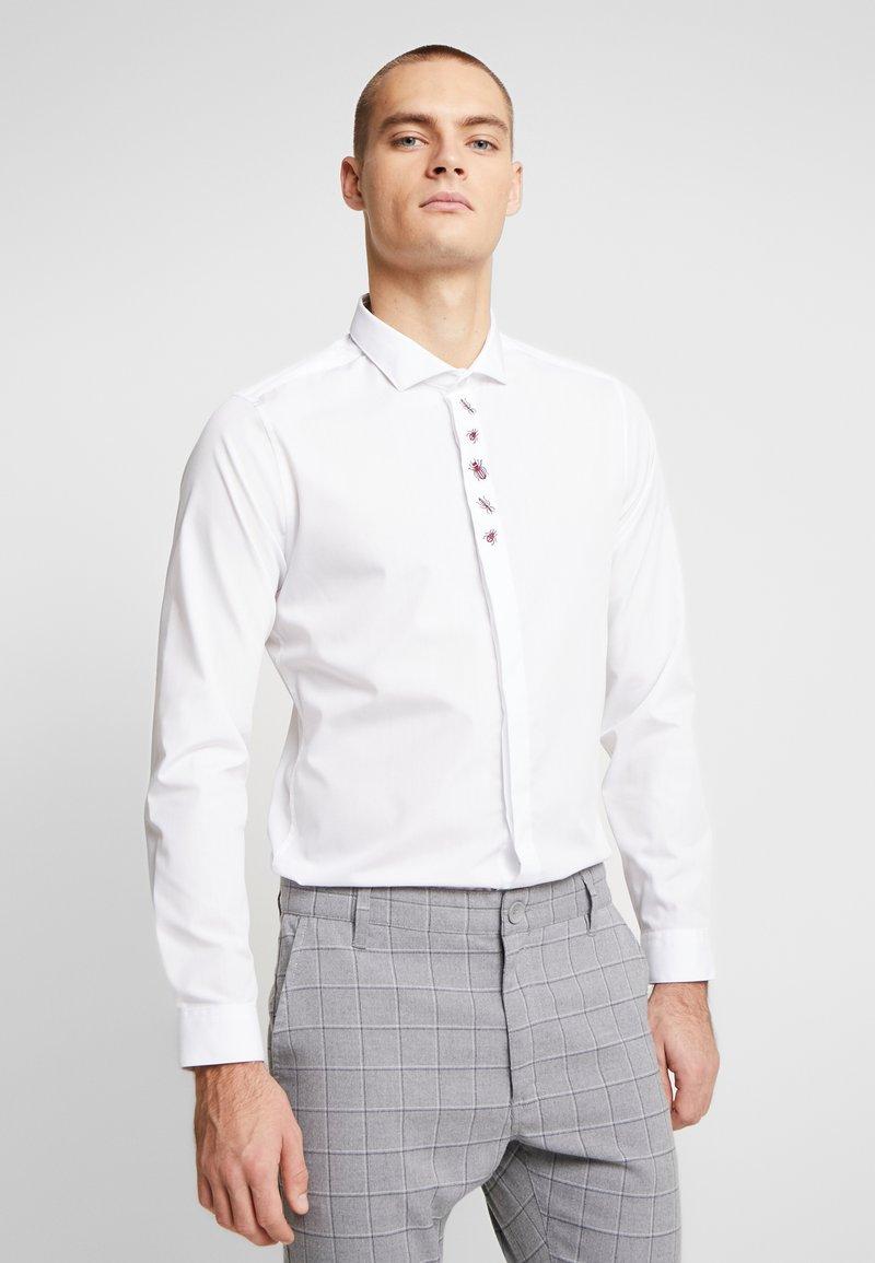 Burton Menswear London - ANIMAL EMBROIDERY - Camicia - white