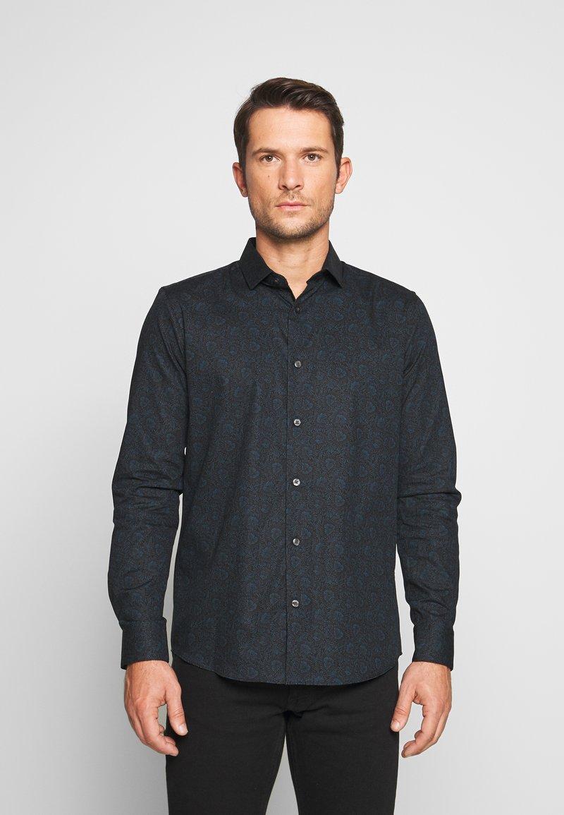 Burton Menswear London - FLORAL DESIGN - Košile - navy